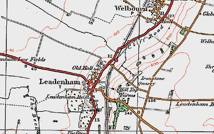 Old map of Leadenham in 1922