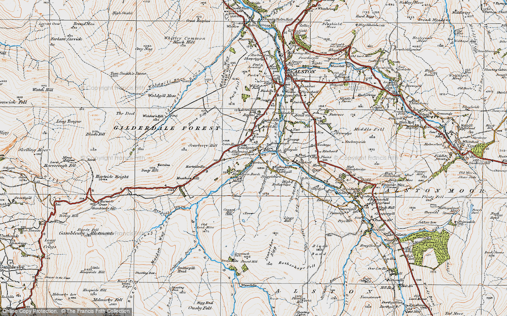 Old Map of Leadgate, 1925 in 1925