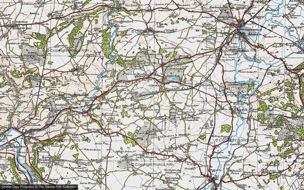 Old Map of Leafield, 1919 in 1919