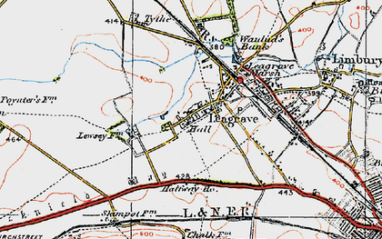 Old map of Leagrave in 1920
