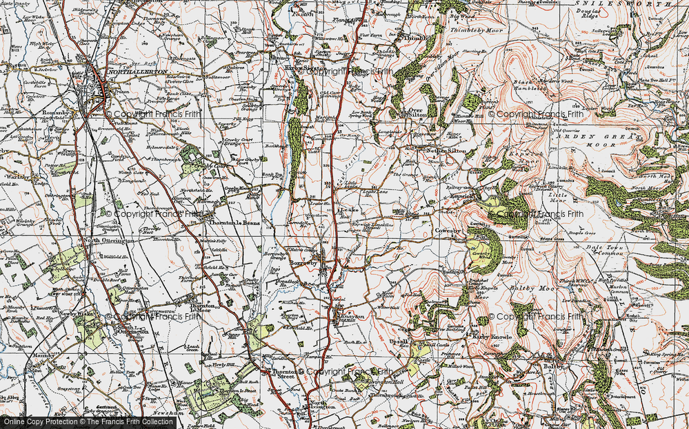Old Map of Leake, 1925 in 1925