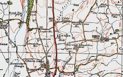 Old map of Leake in 1925
