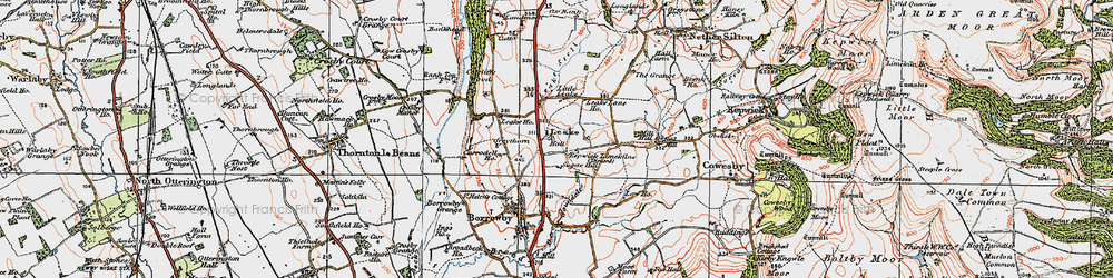 Old map of Leake Stell in 1925