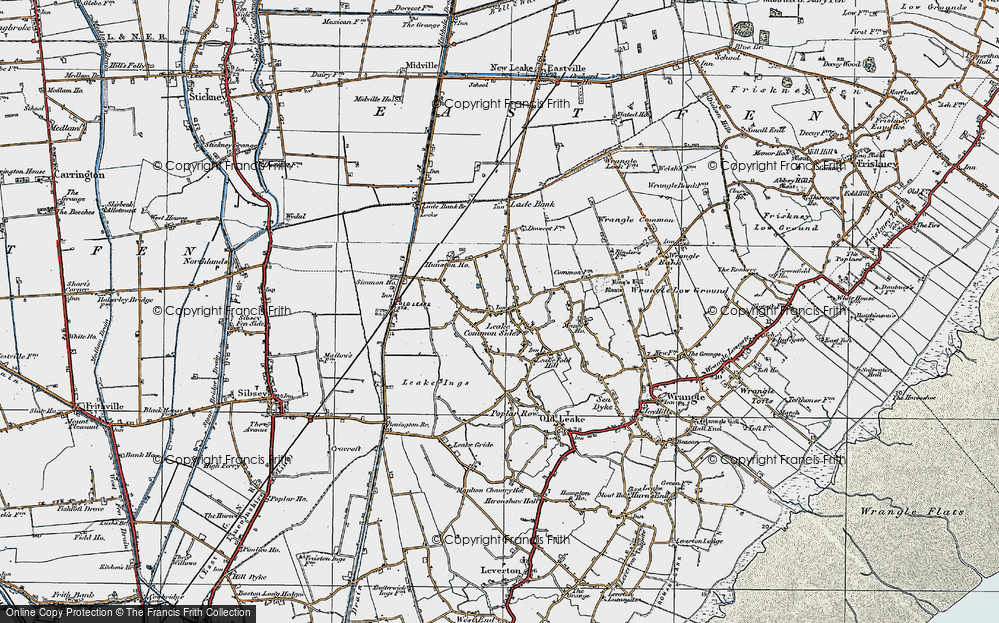 Old Map of Leake Commonside, 1922 in 1922