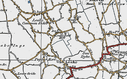 Old map of Leake Fold Hill in 1922