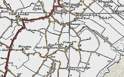 Old map of Leake Hurn's End in 1922