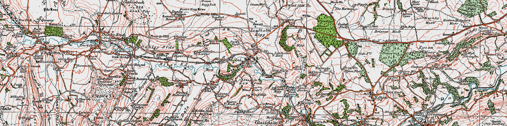 Old map of Lealholm in 1925