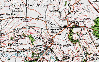 Old map of Lealholm Moor in 1925