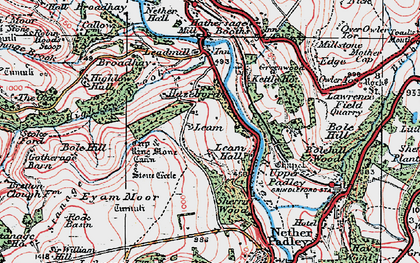 Old map of Leam in 1923