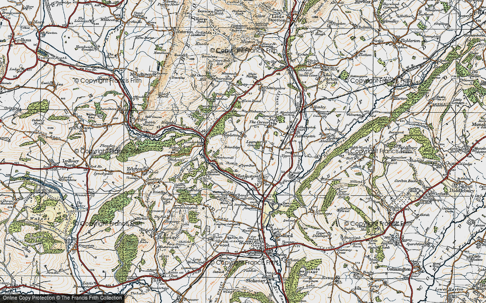 Old Map of Leamoor Common, 1920 in 1920