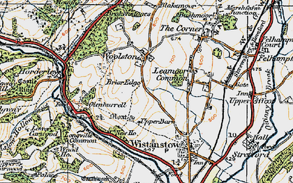 Old map of Leamoor Common in 1920