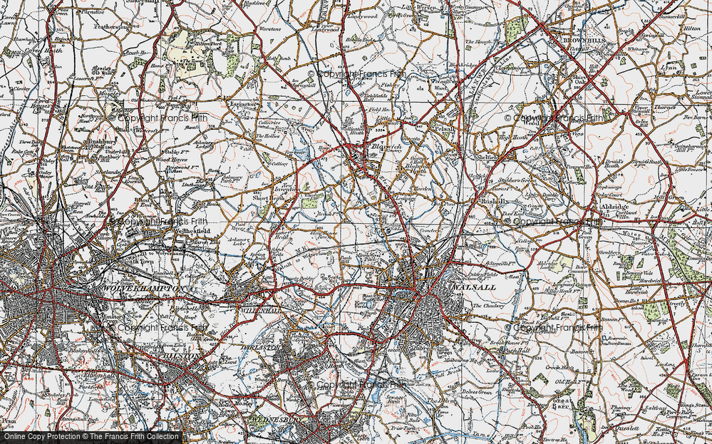 Old Map of Leamore, 1921 in 1921