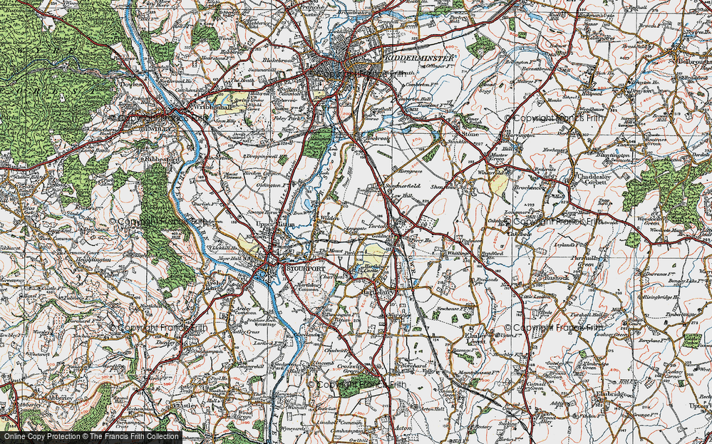 Old Map of Leapgate, 1920 in 1920