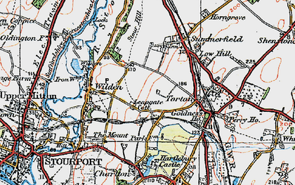 Old map of Leapgate in 1920