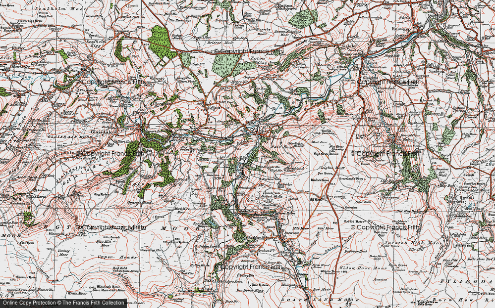 Old Map of Lease Rigg, 1925 in 1925