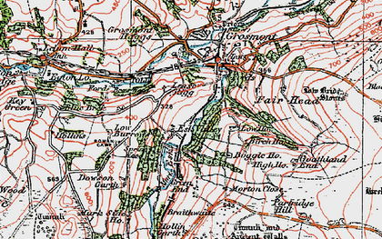 Old map of Lease Rigg in 1925