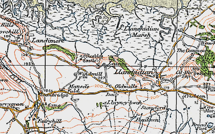 Old map of Leason in 1923