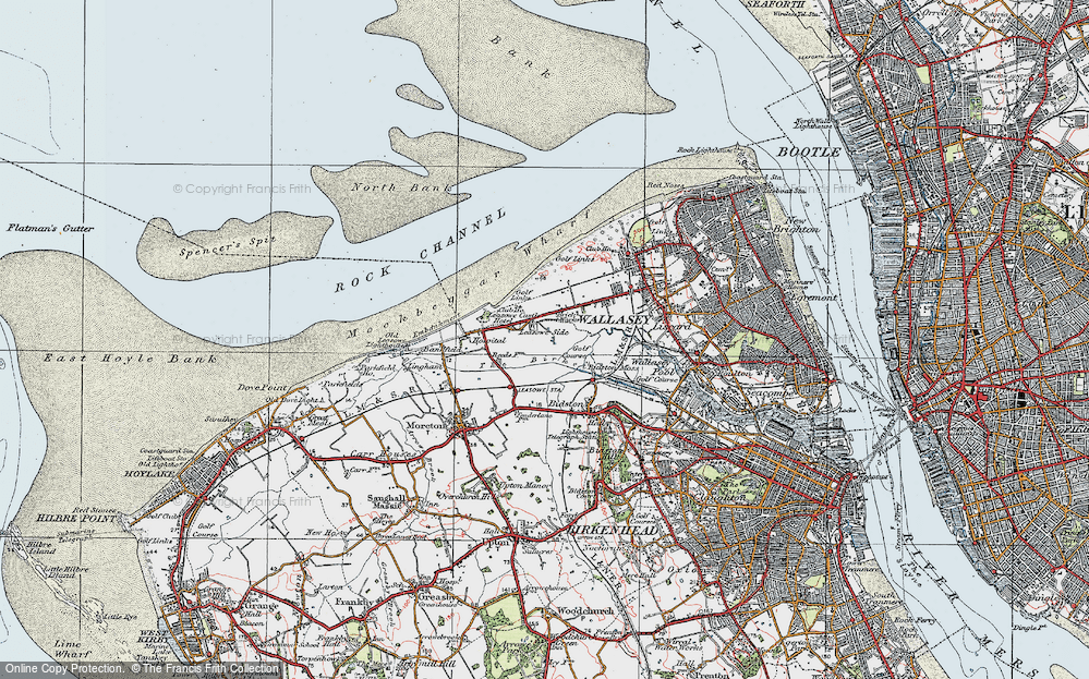 Old Map of Leasowe, 1923 in 1923