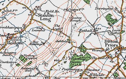 Old map of Ashfield in 1921