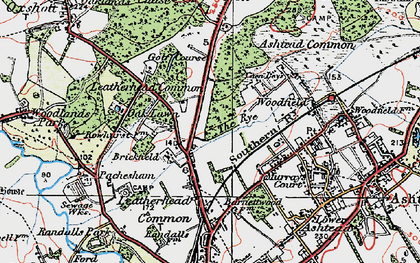 Old map of Woodlands Park in 1920