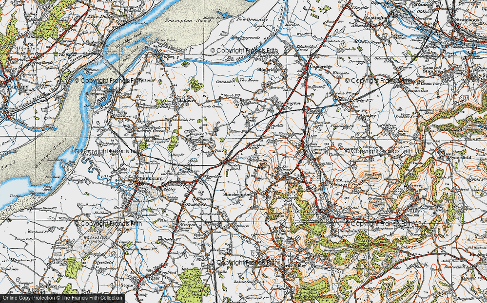 Old Map of Leathern Bottle, 1919 in 1919