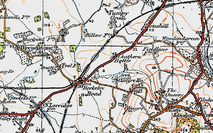Old map of Leathern Bottle in 1919