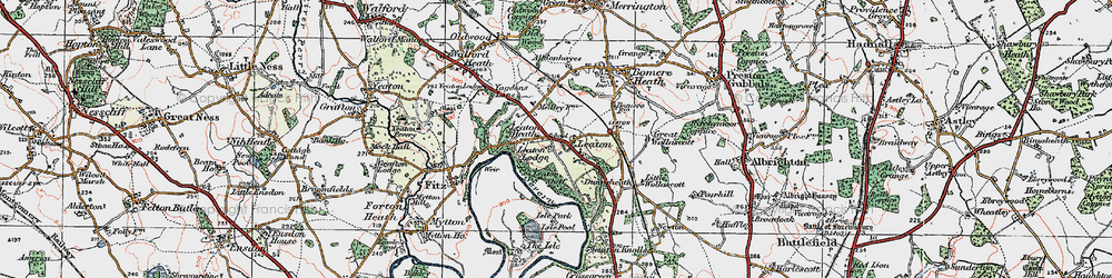 Old map of Albionhayes in 1921