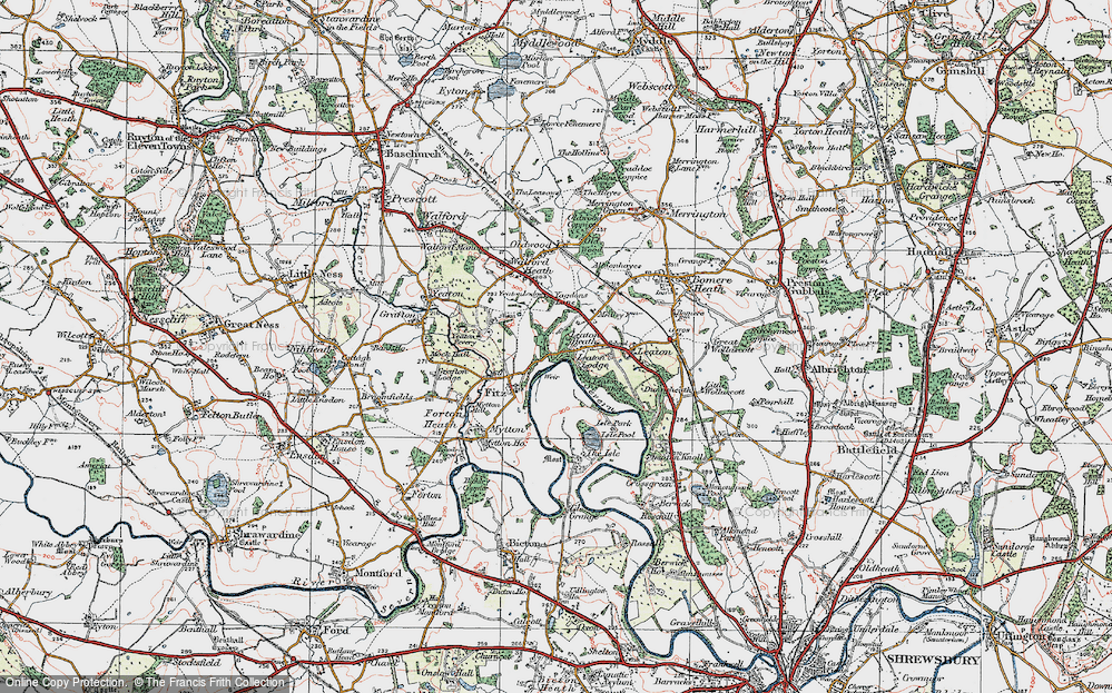 Old Map of Historic Map covering Yeaton Peverey in 1921