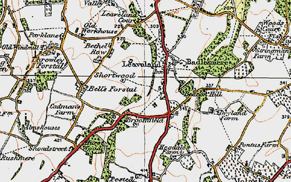 Old map of Leaveland in 1921