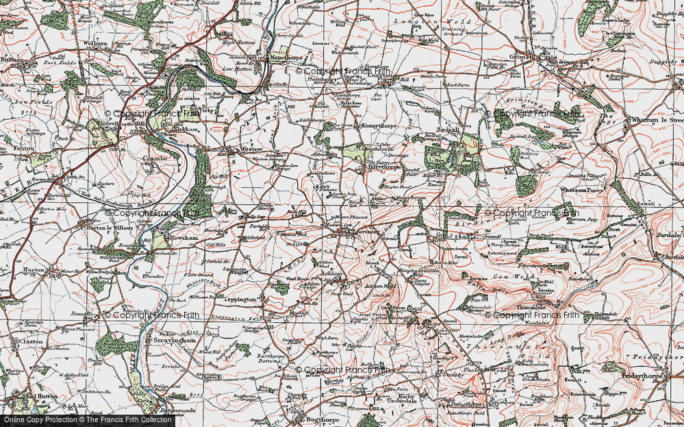 Old Map of Leavening, 1924 in 1924