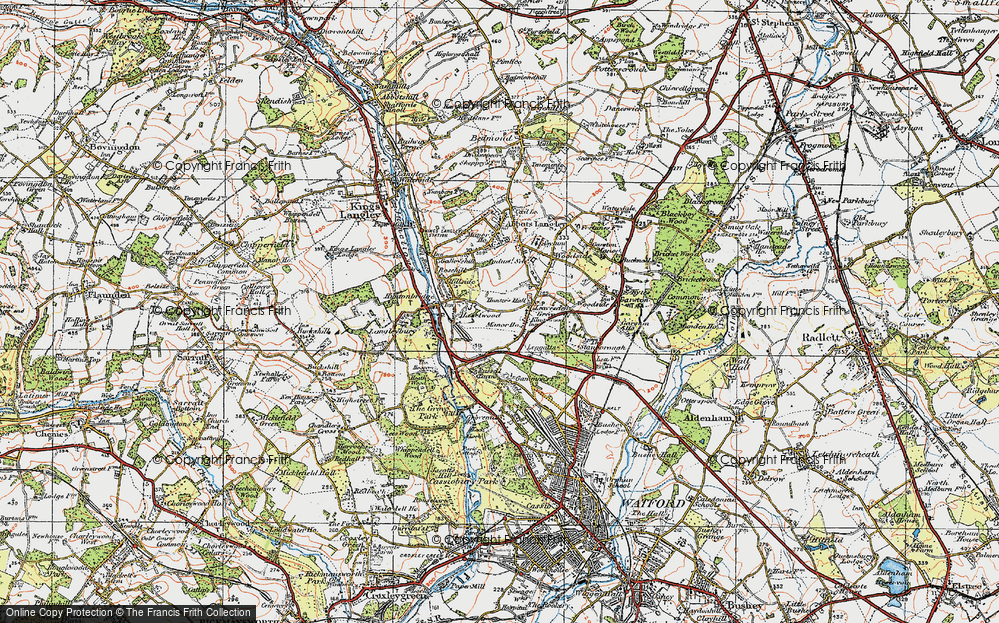 Old Map of Leavesden Green, 1920 in 1920