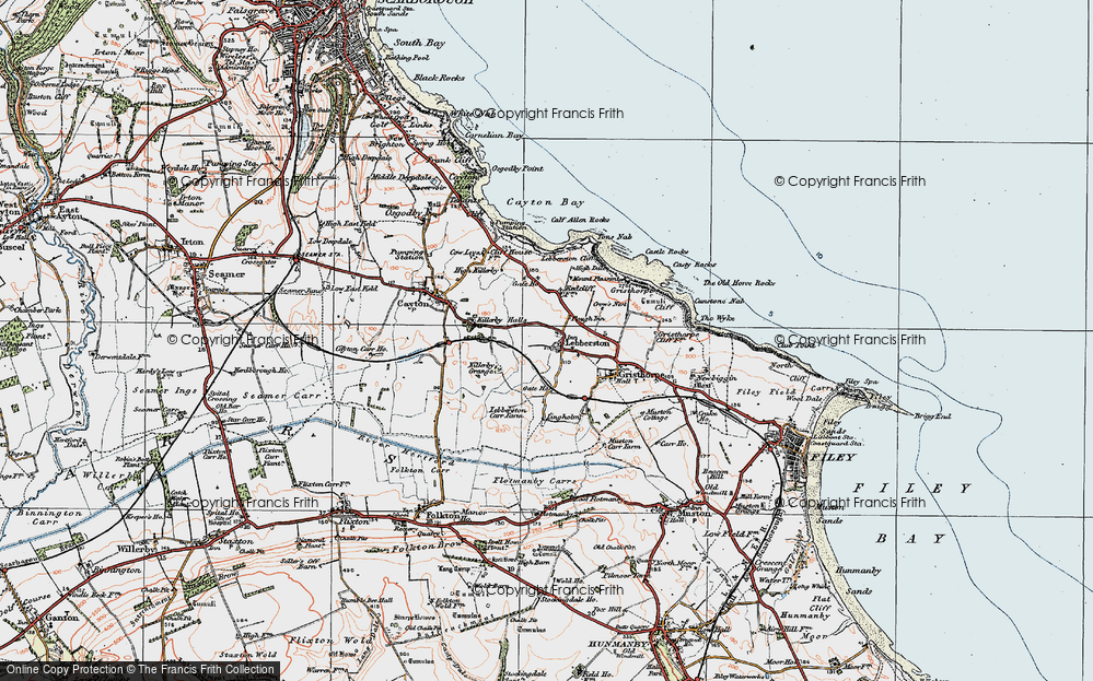Old Map of Lebberston, 1925 in 1925