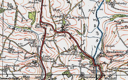 Old map of Leburnick in 1919