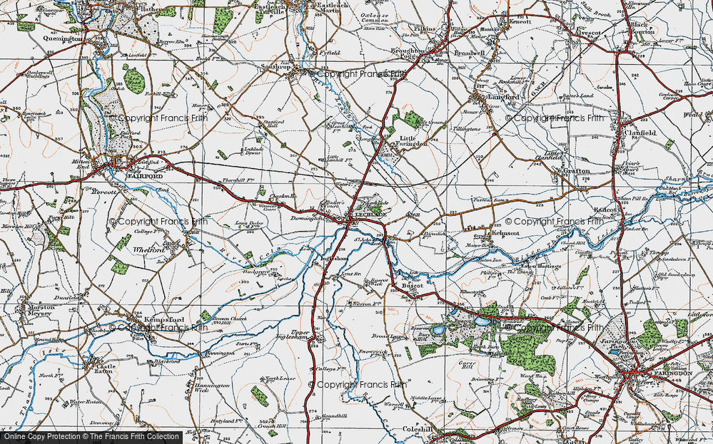 Old Map of Lechlade on Thames, 1919 in 1919