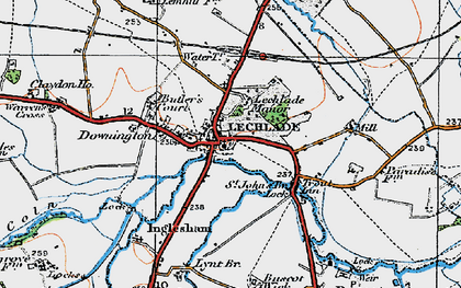 Old map of Lechlade on Thames in 1919
