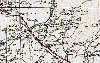 Old map of Leck Beck in 1925