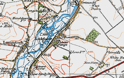 Old map of Woolbury in 1919
