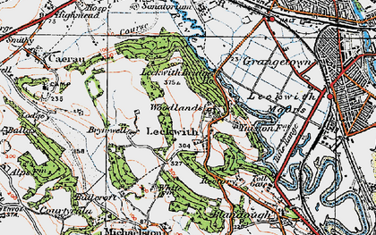 Old map of Leckwith Woods in 1919
