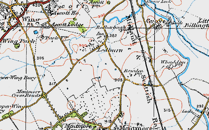 Old map of Ledburn in 1919