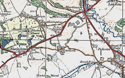 Old map of Ledicot in 1920
