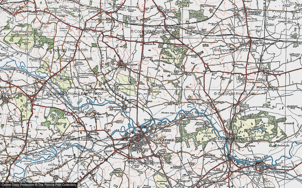 Old Map of Ledston, 1925 in 1925