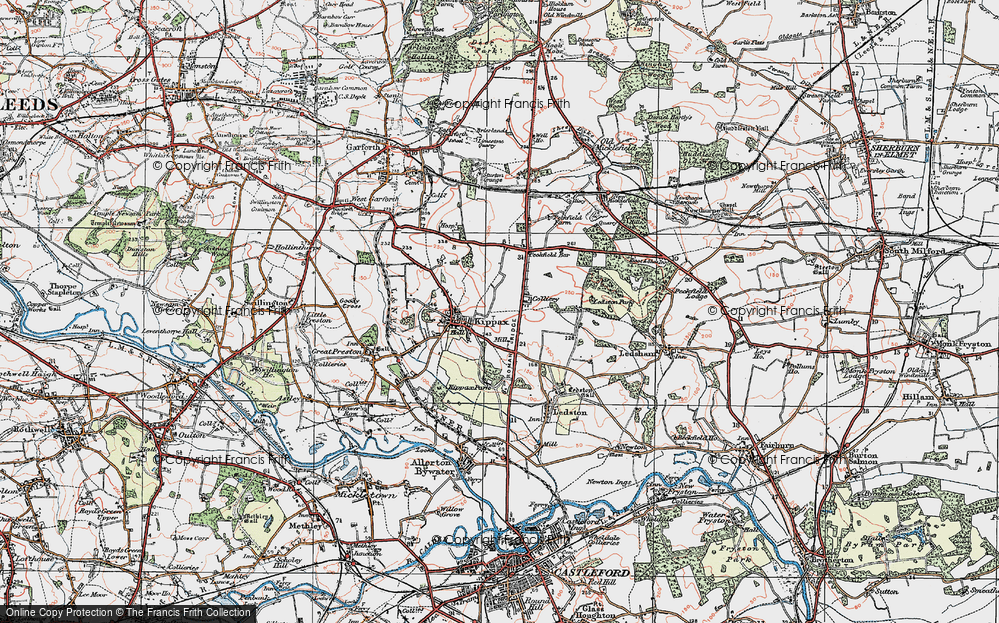 Old Map of Ledston Luck, 1925 in 1925