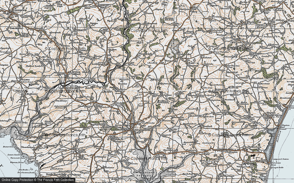 Old Map of Ledstone, 1919 in 1919