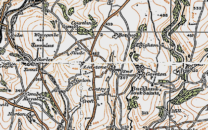 Old map of Ledstone in 1919