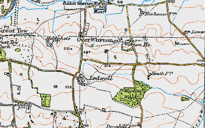 Old map of Ledwell in 1919