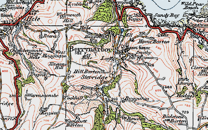 Old map of Lee in 1919