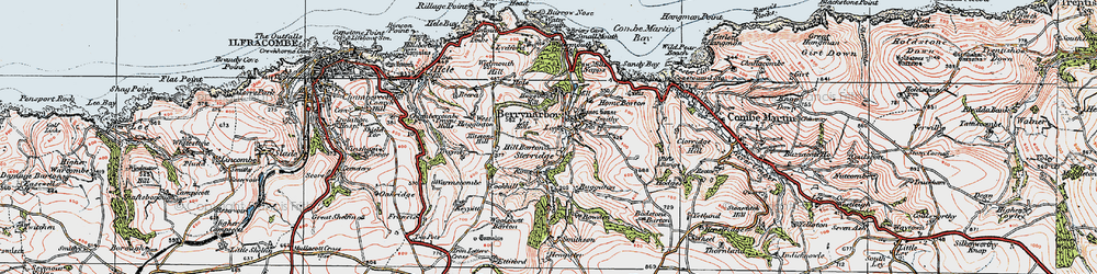 Old map of Woolscott Barton in 1919