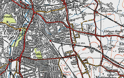 Old map of Lee in 1920