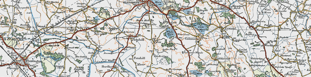 Old map of Lee in 1921