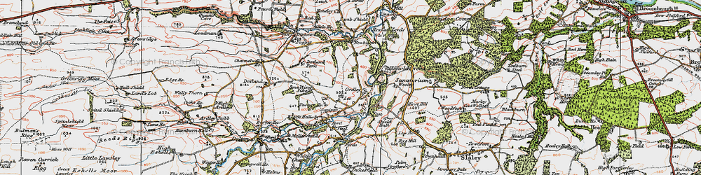 Old map of Linnel Wood in 1925